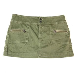 Abercrombie and Fitch army green mini skirt